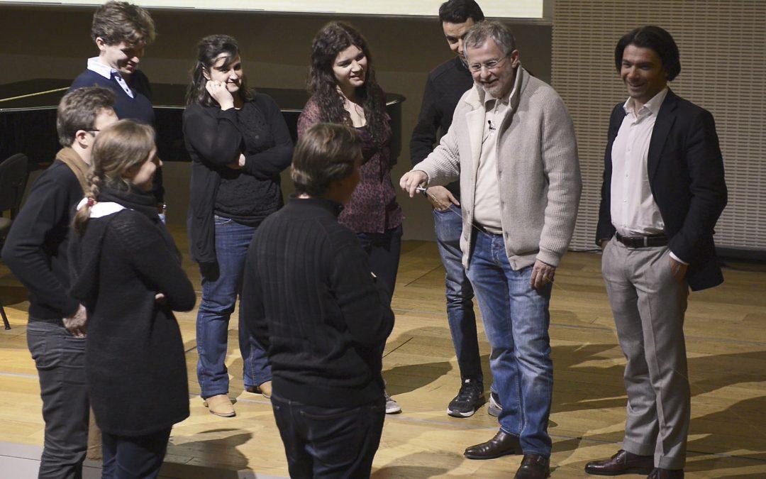 Meeting Gautier Capuçon and the Classe d'Excellence de Violoncelle