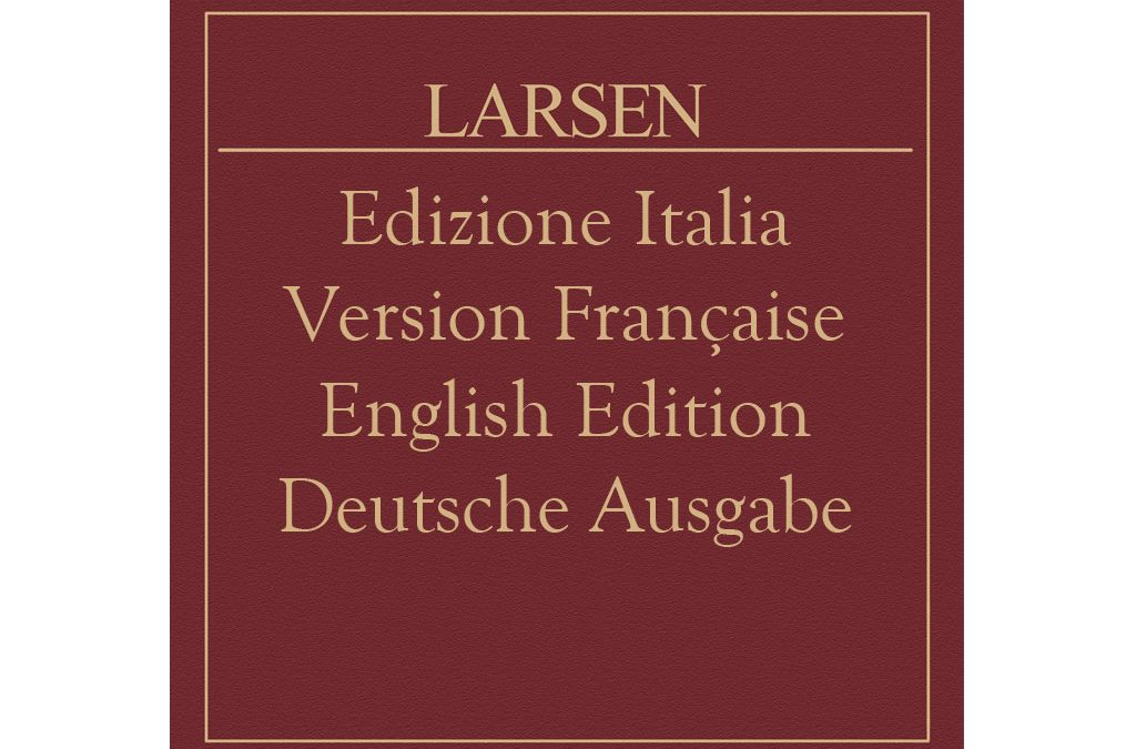 The Larsen Catalogue 2016
