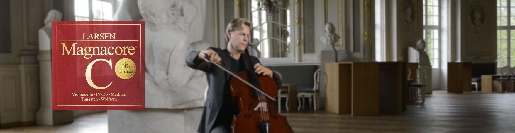 Christopher Franzius plays Larsen Magnacore Arioso cello strings