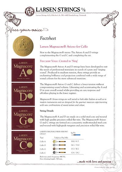 Arioso Factsheet