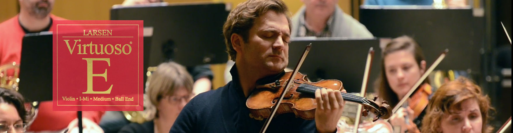 Renaud Capucon violinist visting Larsen Strings in Denmark
