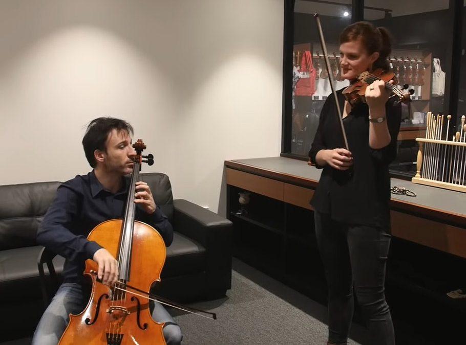 Streeton Trio testing Larsen Strings matching sound