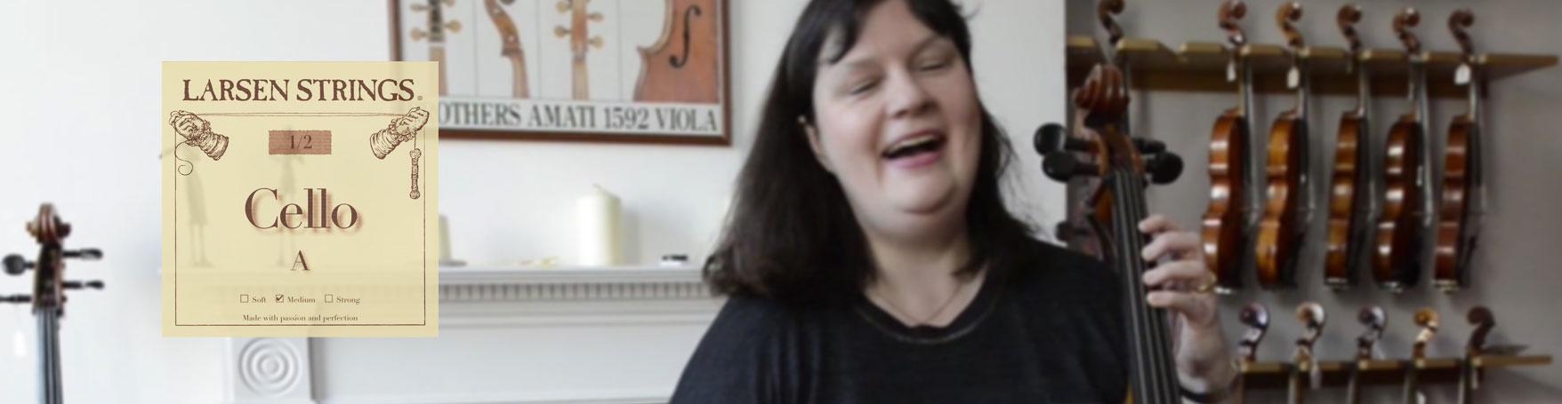 Katri Patel tries Larsen Fractional cello strings