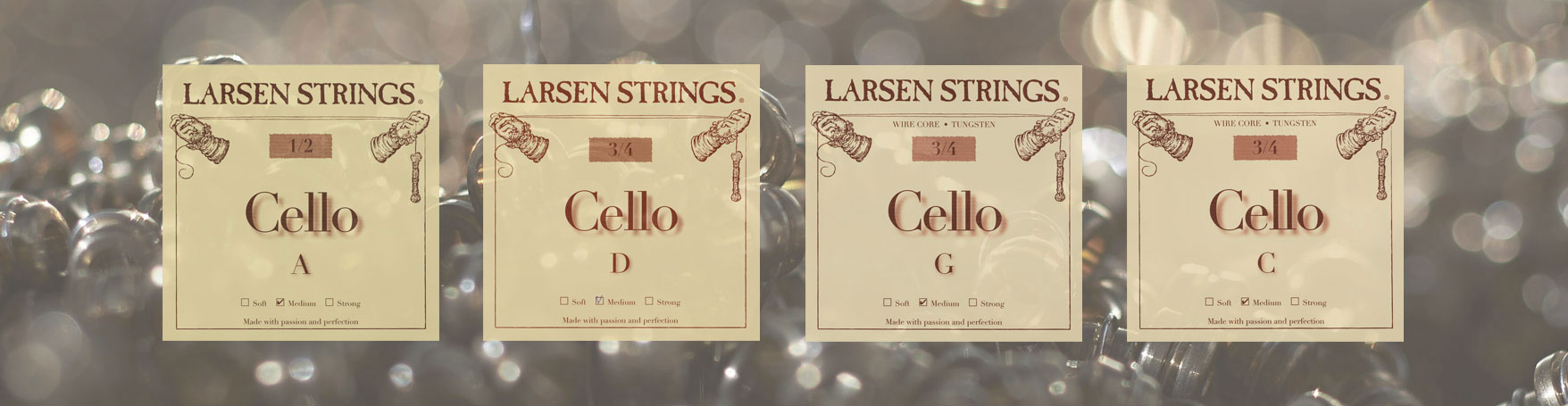 Larsen Fractional Cello strings in smaller sizes
