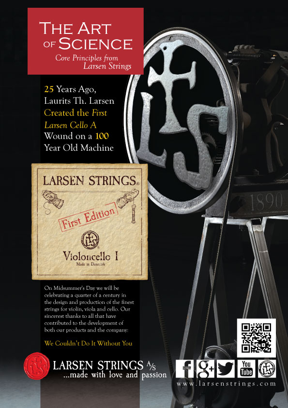 Larsen Strings 25th Anniversary Advertisement
