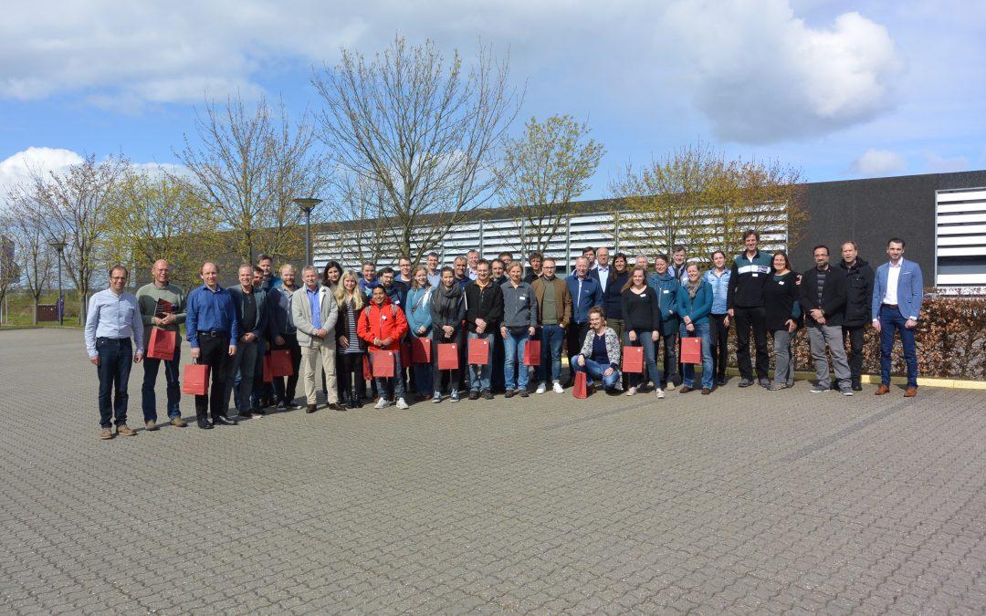 Visiting Larsen Strings A/S with German violinmakers and GEWA