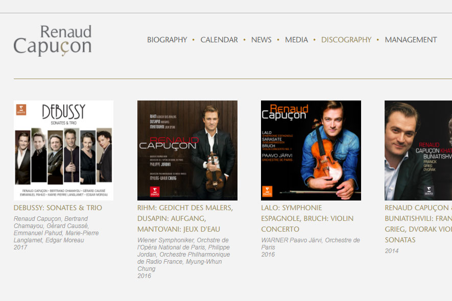 Renaud Capucon Website