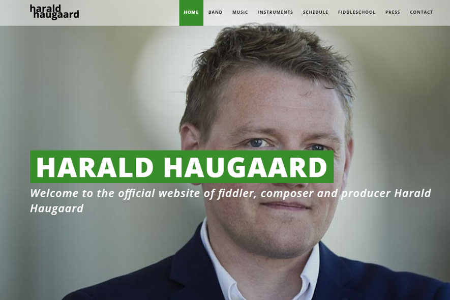 Harald Haugaard Website