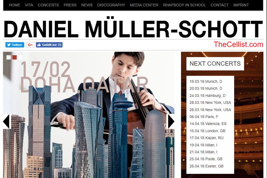 Daniel Müller-Schott Website