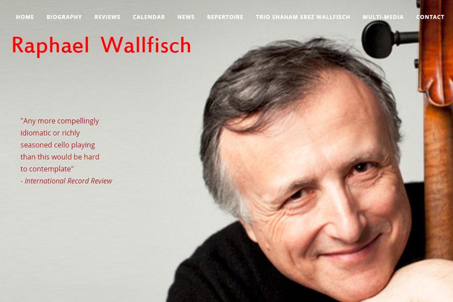 Raphael Wallfisch Website