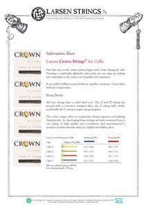 crown strings cello
