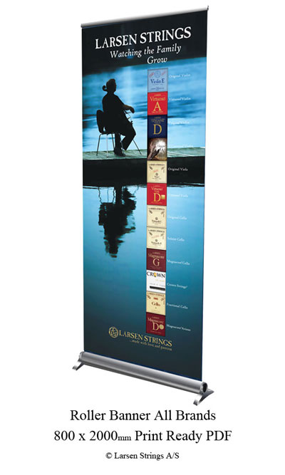Larsen Brands Roller Banner