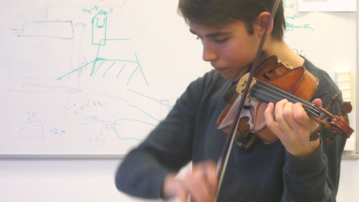 Testing Strings with a Musician