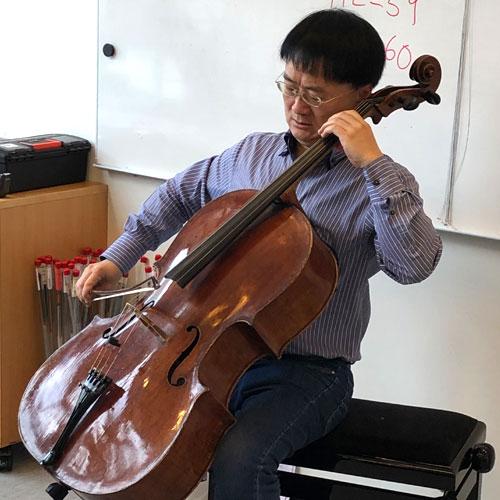 Jian Wang at Larsen Strings
