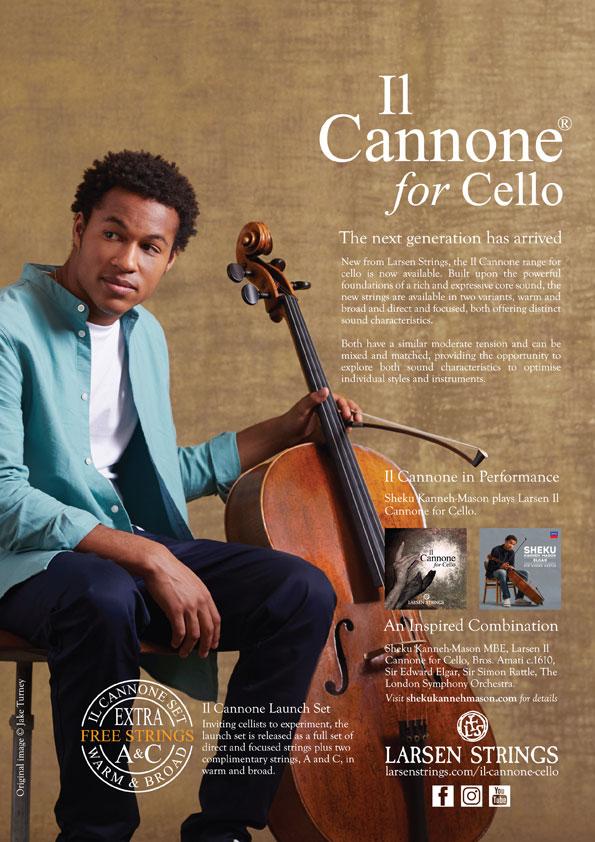 Larsen Strings Strad Magazine Sheku Kanneh-Mason