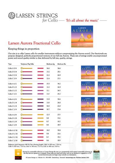 Larsen Aurora for Cello Fractional