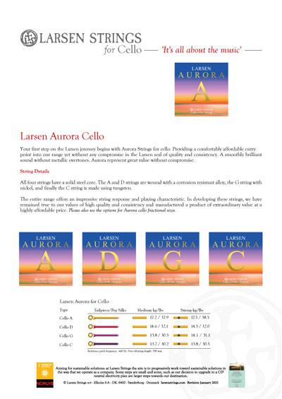 Larsen Aurora for Cello 4/4