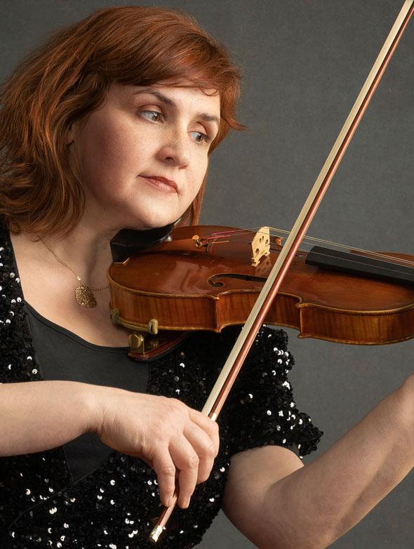 Mihaela Oprea. Principal 2nd violin at South Denmark Philharmonic.