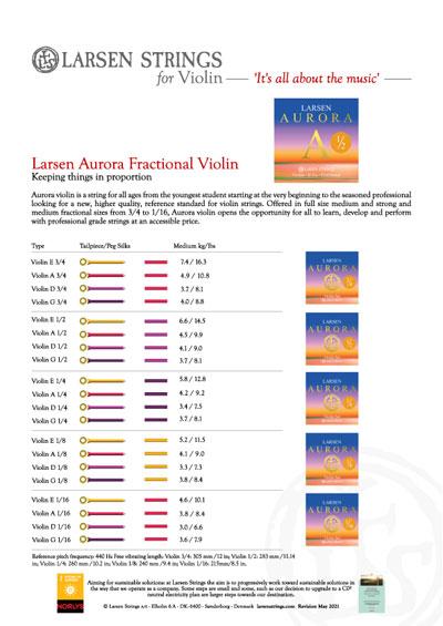 Larsen Aurora Fractional for Violin