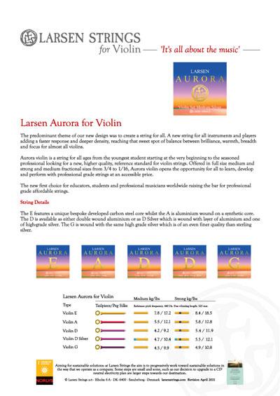 Larsen Aurora for Violin